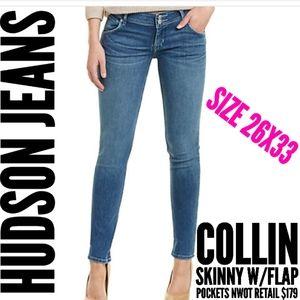 Hudson Jeans Size 26 Collin Skinny Flap Pocket New